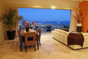 View from inside condos at Las Cascadas de Pedregal in Cabo San Lucas