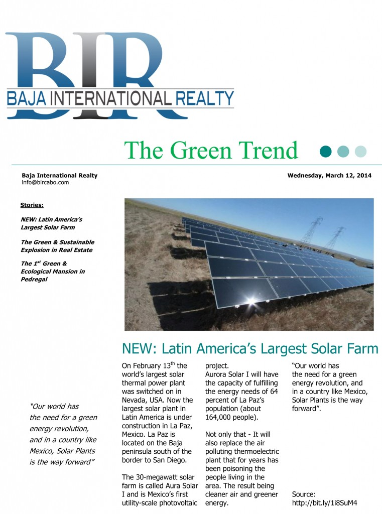 The Green Trend in Real Estate Solar Farm