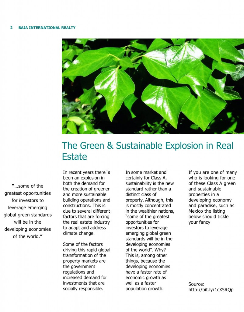 The Green Trend in Real Estate