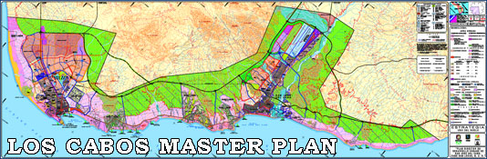 Master Plan map for Los Cabos
