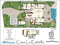 Floorplan of Casa La Estrella at El Encanto, Los Cabos